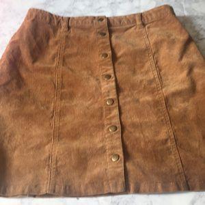 Corduroy sued skirt